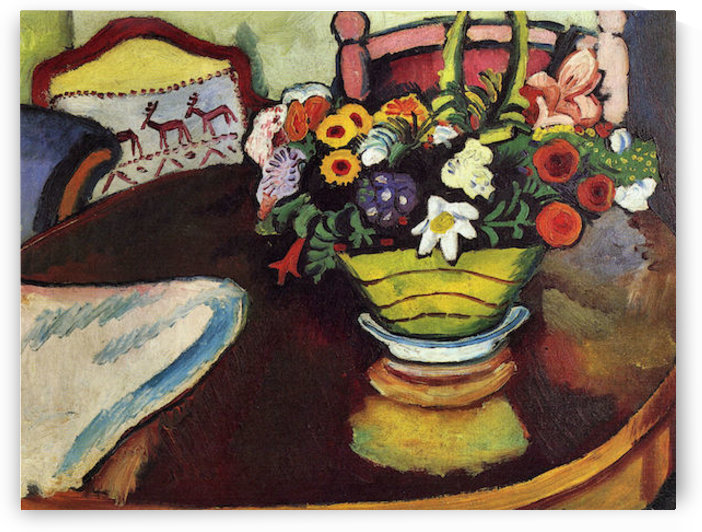 Still Life with venison and ostrich pillow by August Macke by August Macke