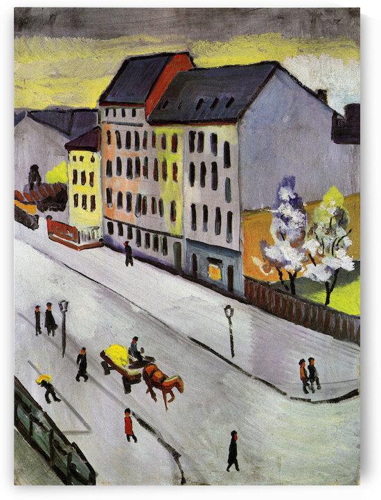 Street in Gray by August Macke by August Macke