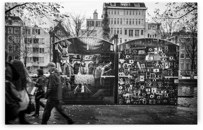 Market Stalls by Carlos M  Garate