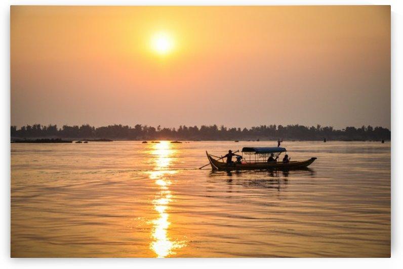 Sunset over Mekong by Jure Brkinjac