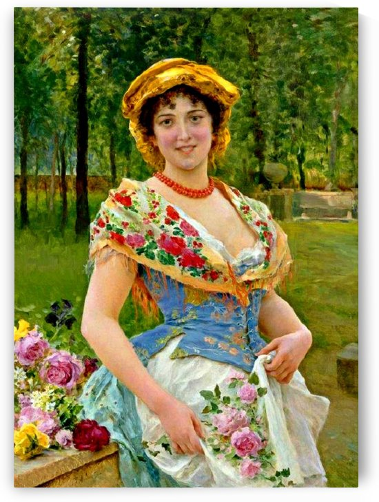 Beautiful girl in the garden by Federico Andreotti