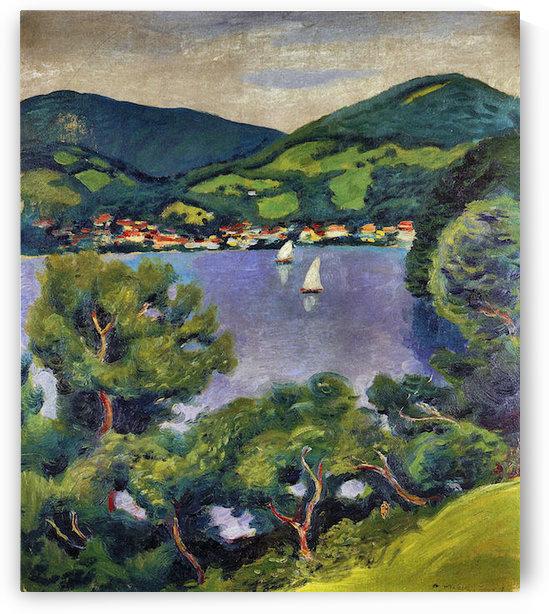 Tegern Sea landscape by August Macke by August Macke