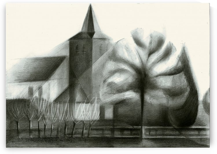 The protestant church at De Ooij - 25-01-16 by Corné Akkers