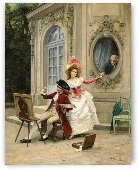 Secret letter during painting lesson by Vittorio Reggianini