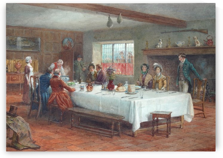 A meal stop at a coaching inn by George Sheridan Knowles