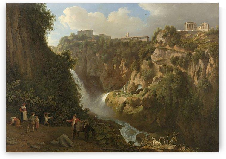 De waterval van Tivoli by Abraham Teerlink