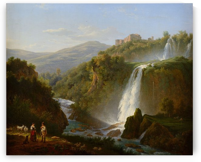 Waterfall near Tivoli by Abraham Teerlink