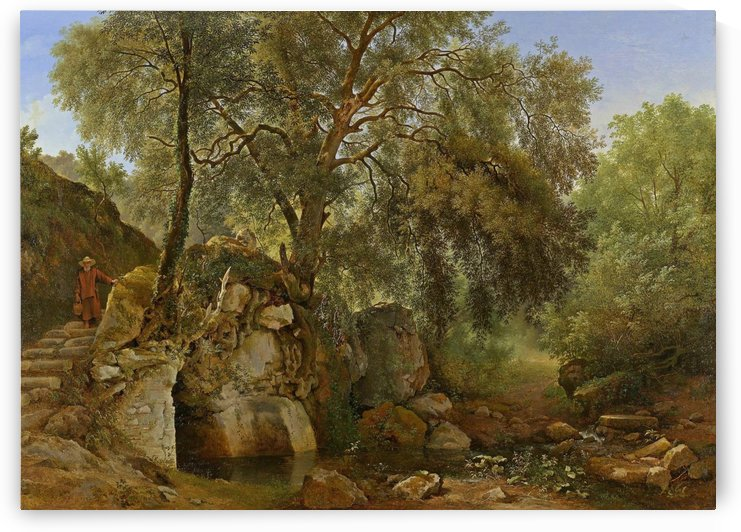 View in the Park of the Villa Chigi at Ariccia by Abraham Teerlink