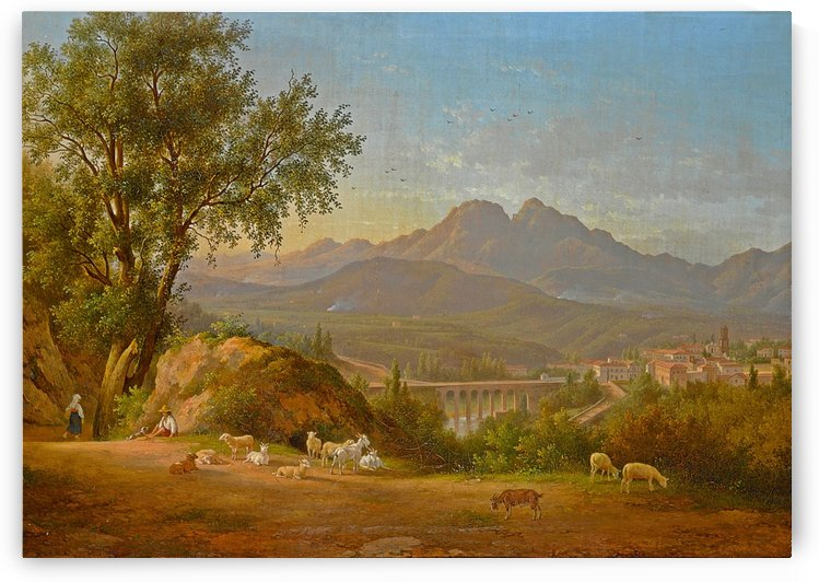 A view of cava dei Tirreni near Salerno, Italy by Abraham Teerlink