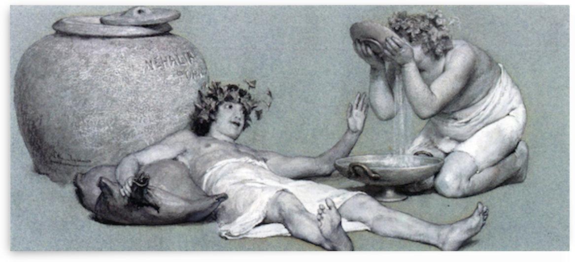 Bacchus and Silenus by Alma-Tadema by Alma-Tadema