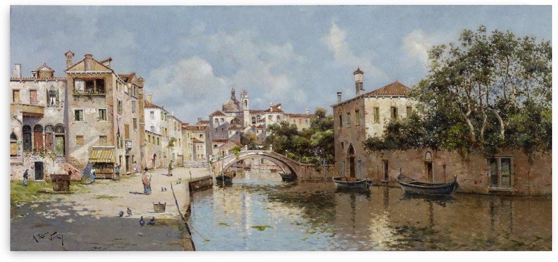 Venetian Canal by Rubens Santoro