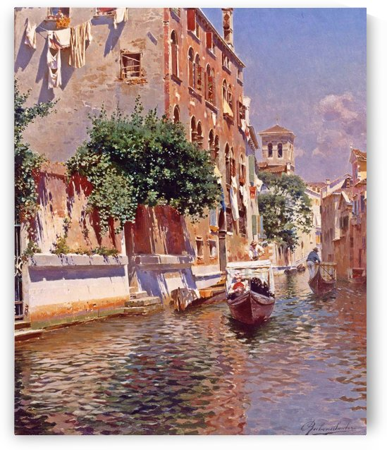St Apostoli Canal, Venice by Rubens Santoro