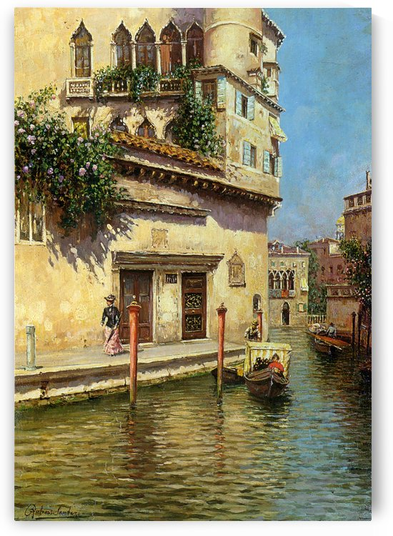 A Venetian Backwater by Rubens Santoro