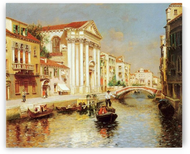 Along the Venetian Canal by Rubens Santoro