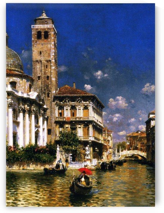 San Geremia, with Palazzo Labia, Venice by Rubens Santoro