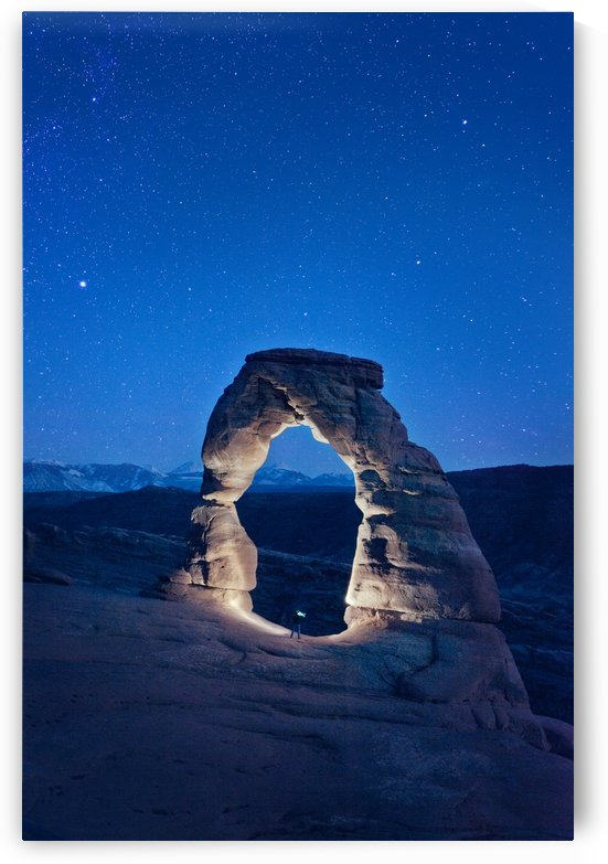 Delicate Arch Night by Christopher Dormoy