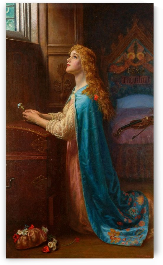 Forget me not by Arthur Hughes