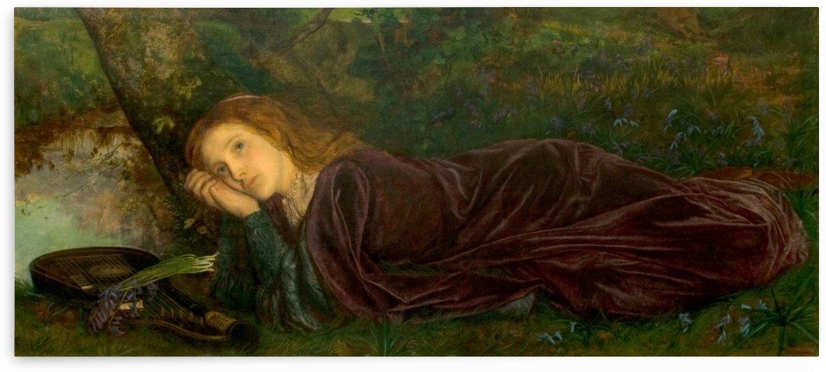 Rift in the Lute, 1861 by Arthur Hughes