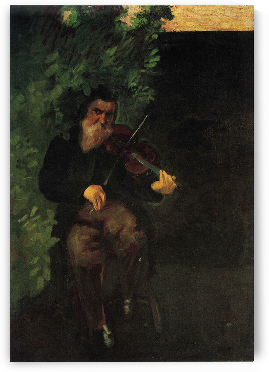 The old violinist by August Macke by August Macke