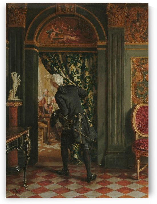 The card room by Talbot Hughes