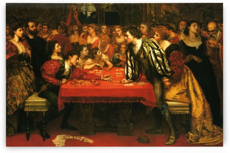 A Venetian gaming house in the sixteenth century by Valentine Cameron Prinsep