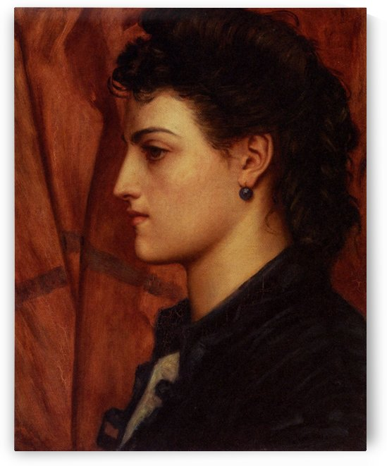 Head of an Italian girl by Valentine Cameron Prinsep