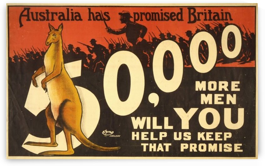 Australia has promised Britain by VINTAGE POSTER
