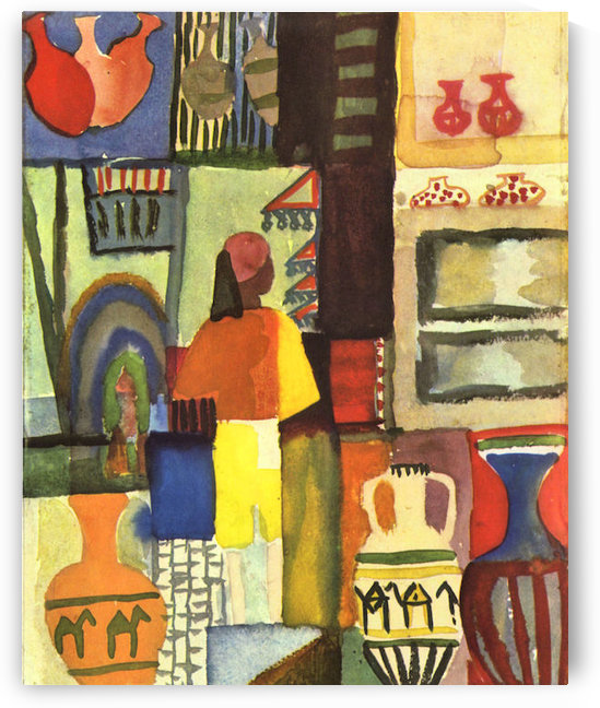Traders with jugs by August Macke by August Macke