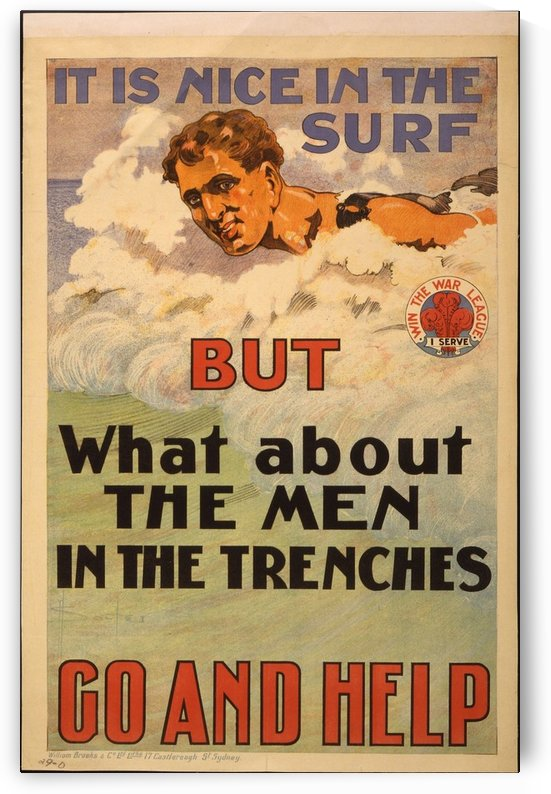 Go help by VINTAGE POSTER