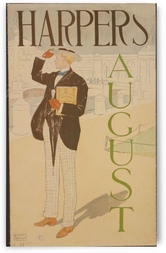 Harpers August 2 by VINTAGE POSTER