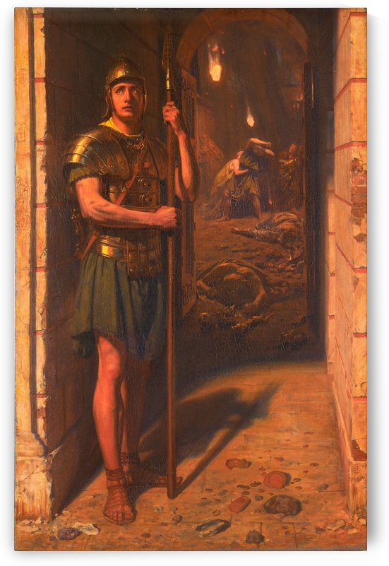 Faithful unto death by Edward Poynter