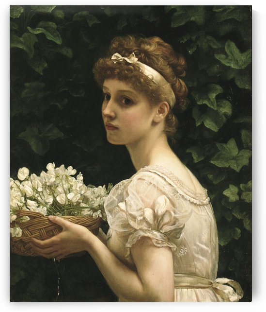 Pea blossoms by Edward Poynter