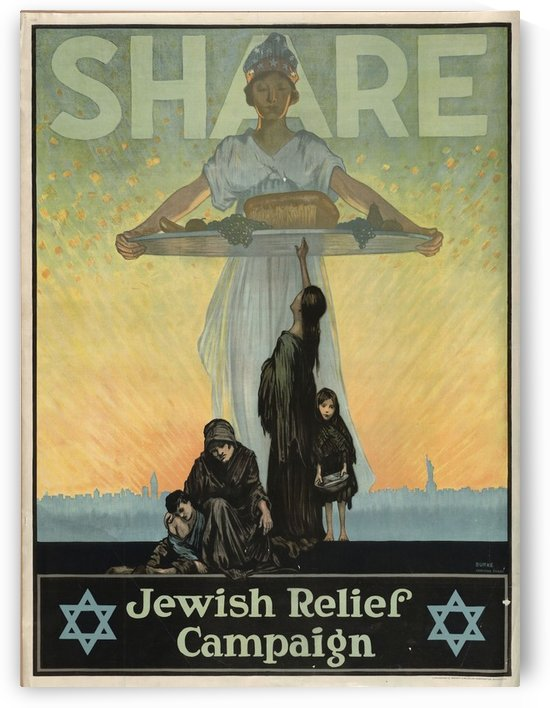 Jewish Campaign by VINTAGE POSTER