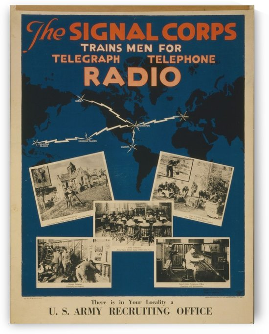 Join the signal corps by VINTAGE POSTER