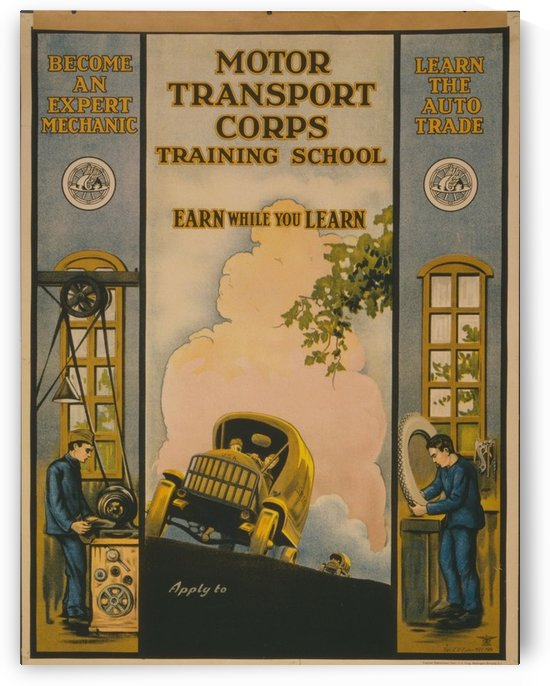 Learn a trade by VINTAGE POSTER