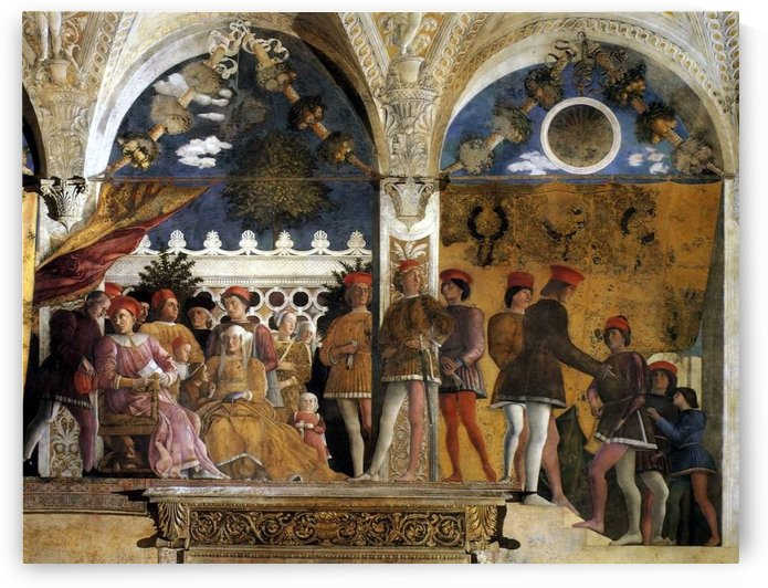 The Court of Mantua by Andrea Mantegna