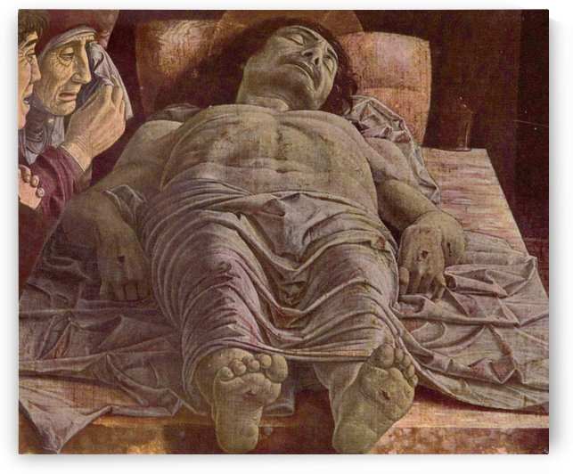 The lamentation over the dead Christ by Andrea Mantegna