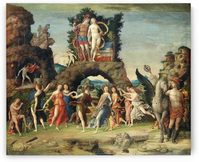 La Parnasse by Andrea Mantegna