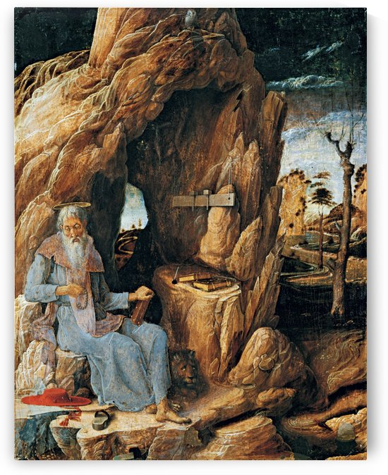 St Jerome in the Wilderness by Andrea Mantegna