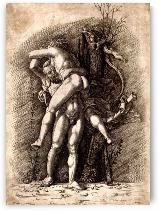 Hercules and Antaeus by Andrea Mantegna