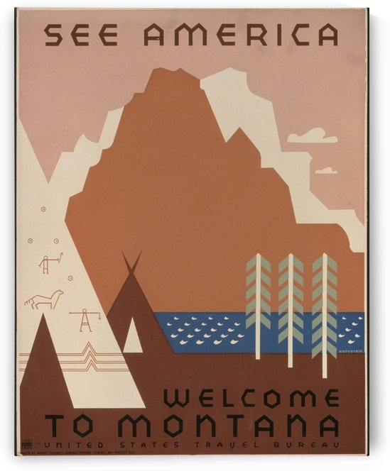 Montana by VINTAGE POSTER