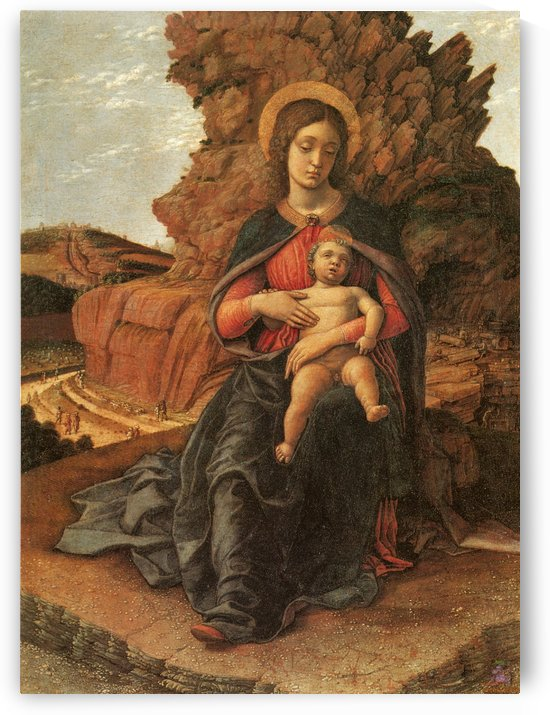 Madonna of the Cave by Andrea Mantegna