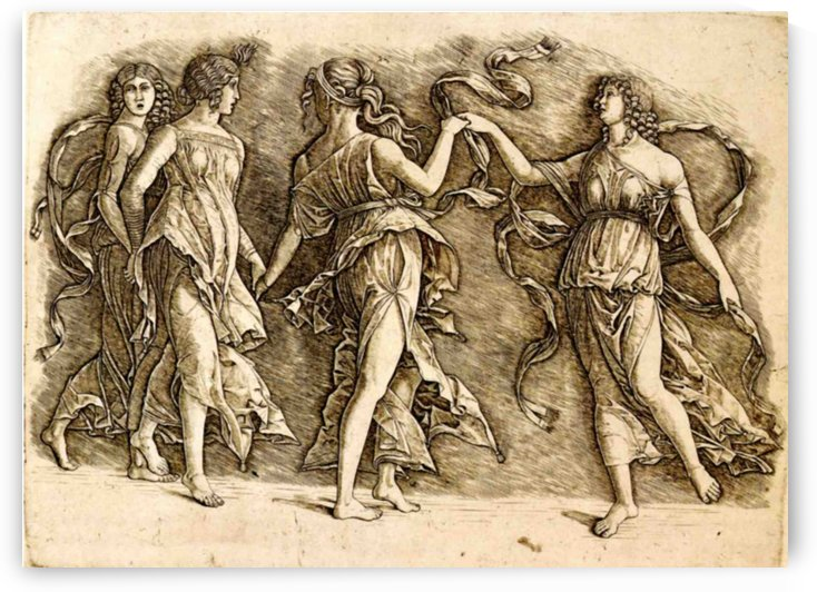 Four Muses by Andrea Mantegna
