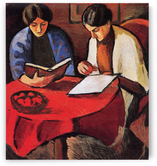 Two women at the table by August Macke by August Macke