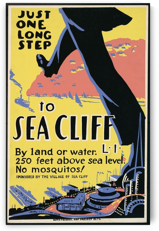 Sea Cliff by VINTAGE POSTER