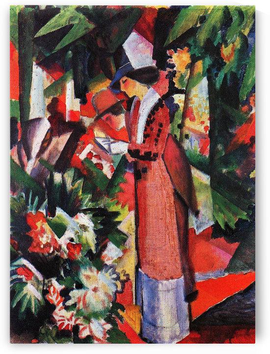 Walk in flowers by August Macke by August Macke