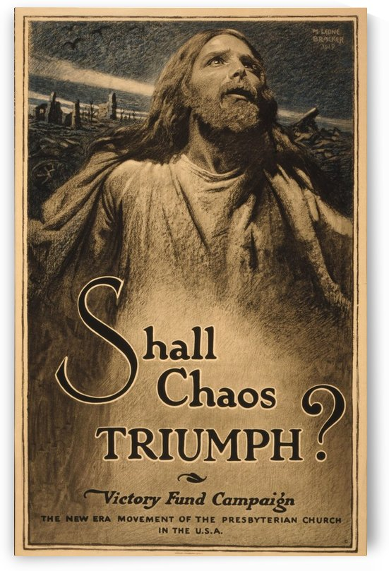 Shall Chaos Triumph! by VINTAGE POSTER