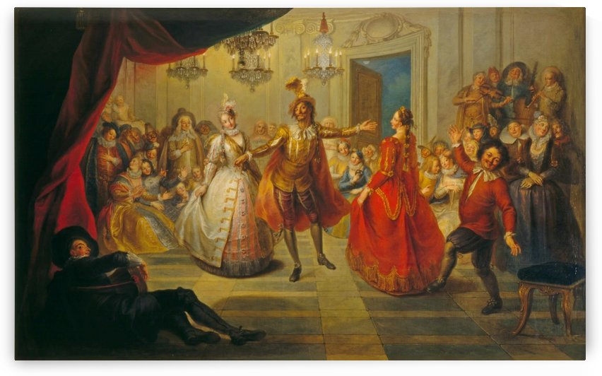 Don Quixote at Don Antonio Morenos Ball by Charles-Antoine Coypel
