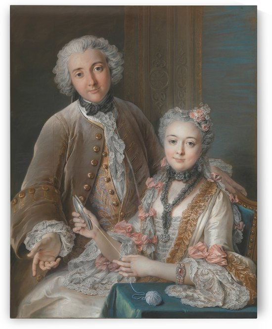 Francois de Jullienne and his wife by Charles-Antoine Coypel