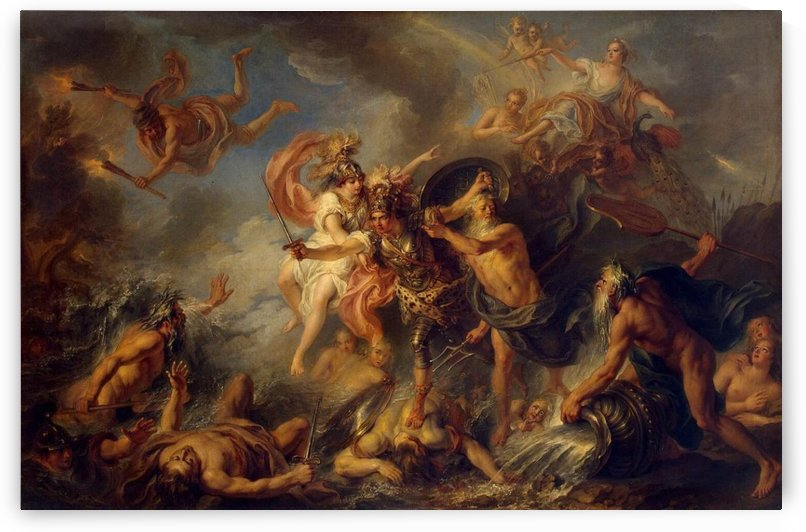 Fury of Achilles by Charles-Antoine Coypel